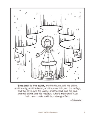 Blessed is the Spot - Coloring and Activity Pages (37 pg pdf)