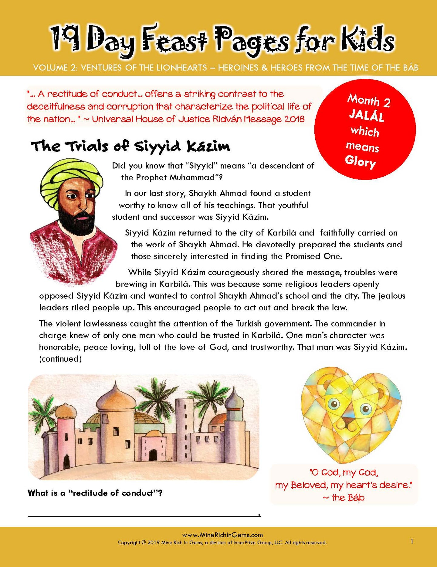 LIONHEARTS Month 02 | The Trials of Siyyid Kázim