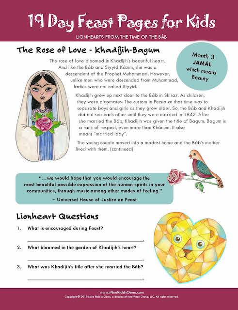 FREE PAGES | LIONHEARTS Month 03 | Khadíjih-Bagum, The Rose of Love | DIGITAL DOWNLOAD