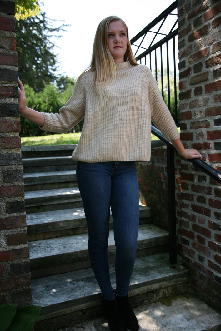 Phoebe boyfriend-sized pullover, 3/4 sleeves