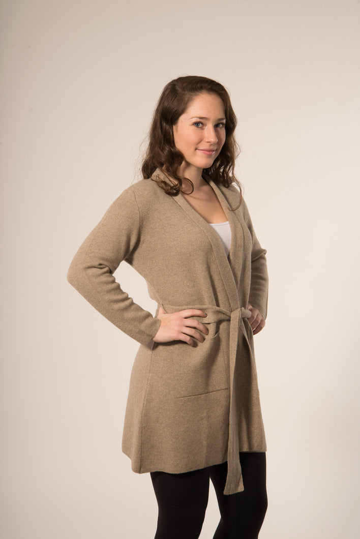 Leyte - Cashmere buttonless cardigan/wrap
