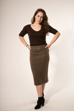Noa mid-length skirt