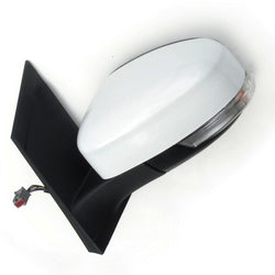 Ford Focus mk2 Left Full Side Door Wing Mirror unit with Frozen White Cover