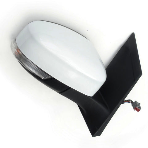 Ford Focus mk2 Right Side Door Wing Mirror unit with Frozen White Cover
