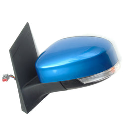 Ford Focus mk2 Left Full Side Door Wing Mirror unit with Vision Blue Cover