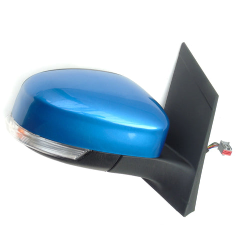 FORD FOCUS RIGHT DRIVERS SIDE DOOR WING MIRROR COVER CAP PAINTED VISION BLUE