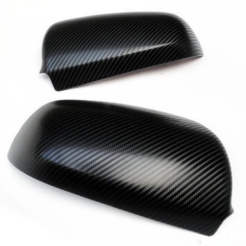 Black Carbon Fibre Effect Audi A3 A4 A6 Door Wing Mirror Covers Caps