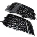 Audi A1 RS1 Style Front Bumper Grilles All Gloss Black Honeycomb