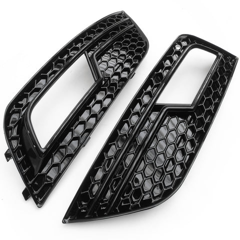 Audi A4 2012-2015 Honeycomb Mesh RS4 Style Front Bumper Grilles