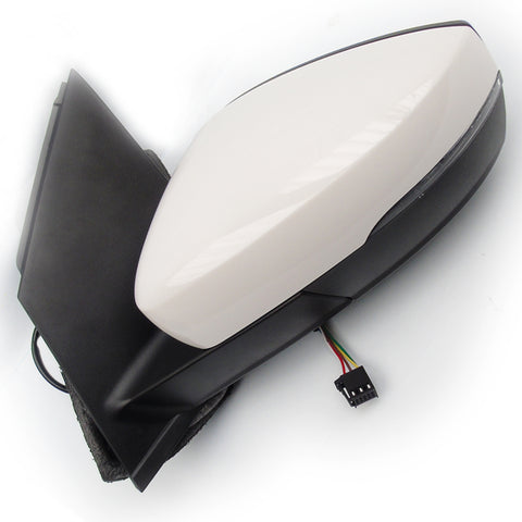 VW Polo 6r mk5 Electric Wing Mirror Left Passenger Side Candy White
