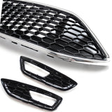 Ford Focus mk3 Zetec Sport Honeycomb Gloss Black Front Grilles kit Upgrade