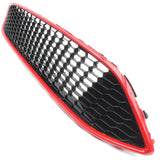 Ford Focus mk3 ST Line Style Black and Red Honeycomb Mesh Front Bumper Grille
