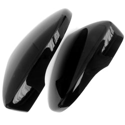 VW Golf mk6 Gloss Black Side Door Wing Mirror Covers Caps Left & Right