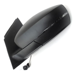 VW Polo 09-17 Wing Mirror Unit Left Nearside Side Black Cover