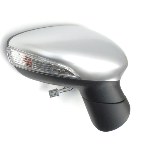 Ford Fiesta mk7 Right Wing Mirror Unit with Moondust Silver Cover