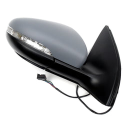 VW Golf mk6 2009 - 2012 Wing Mirror Right Side with Primed Cover
