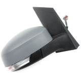 Ford Focus mk2 Right Full Side Door Wing Mirror Unit with Primed Cover