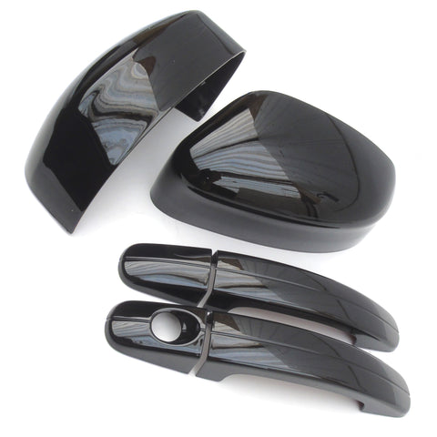 Ford Focus mk2 mk3 Gloss Black Door Mirror Covers and Handles