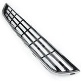 Ford Fiesta mk7 2013-17 Front Lower Centre Bumper Grille Gloss Black & Chrome