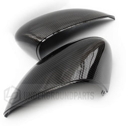Ford Fiesta mk7 Carbon Fibre Effect Black Wing Mirror Covers Caps Pair