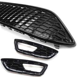 Ford Focus mk3 ST LINE Black & Red Edition Gloss Black Front Grilles