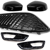 Ford Focus mk3 ST Line / Red Edition Front Grilles & Black Mirror Covers