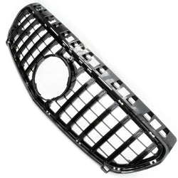 All Black GT Style Front Bumper Grille for Mercedes A-Class 2012-2014