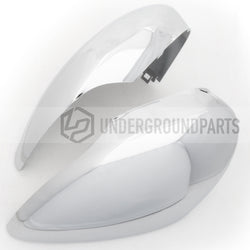 Ford Fiesta mk7 2008-2017 Chrome Side Door Wing Mirror Covers Caps