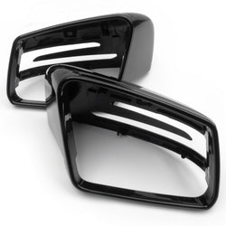 Pair of Gloss Black Door Wing Mirror Covers Caps Casings for Mercedes A C E Class