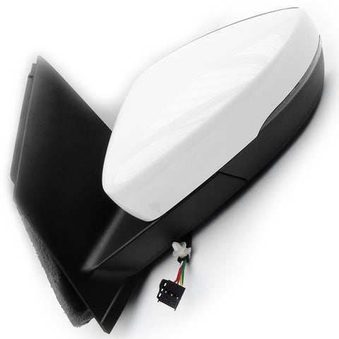 VW Polo 6r mk5 Electric Wing Mirror Left Passenger Side Pure White