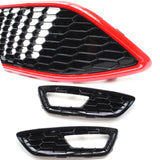Ford Focus mk3 ST LINE Black & Red Edition Gloss Black Front Grilles Upgrade