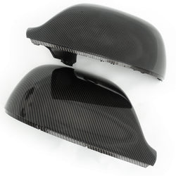VW T5 T6 Transporter Side Door Wing Mirror Covers Gloss Carbon Fibre Black effect