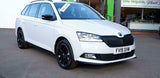 Skoda Fabia 2014- 2020 Gloss Black Door Wing Mirror Cover Left Passenger Side