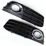 Audi A4 09-12 B8 model - Front Bumper Fog Light Surrounds Grille Left & Right
