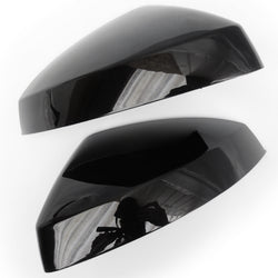 Audi A3 Metallic Black Door Wing Mirror Covers Caps Pair Left & Right Side