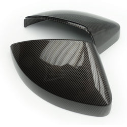 Audi A3 8v Carbon Fibre Effect Black Door Wing Mirror Covers Caps