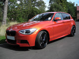 BMW 1 Series F20 F21 2012-14 Gloss Black Front Grilles Surrounds Covers