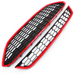 Ford Fiesta mk7 2013-17 Honeycomb Zetec S Front Grilles Black & Red