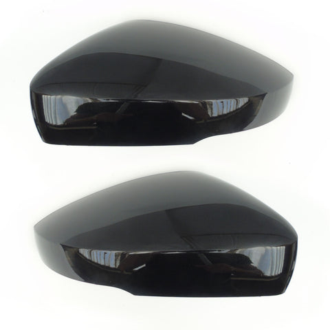 VW Polo 6r 6c Metallic Black Wing Mirror Covers Caps Left & Right
