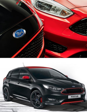 Ford Focus Mk3 St Line Style Black And Red Honeycomb Mesh
