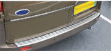 Ford Transit Custom Van Rear Bumper Protector Cover Brushed Stainless Steel