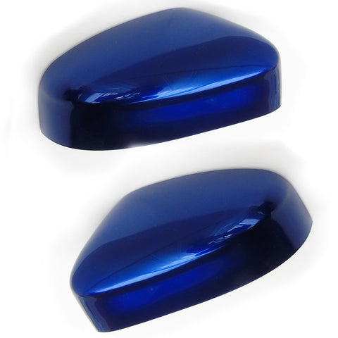 Ford Focus Door Wing Mirror Covers Pair Left & Right Deep Impact Blue