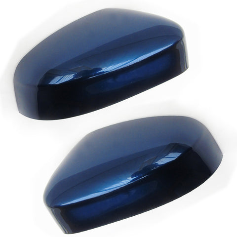 Ford Focus mk2 mk3 Door Wing Mirror Covers Pair Left & Right Ink Blue