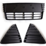 Ford Focus mk3 2011-2014 Front Bumper Grilles Centre Matt Black