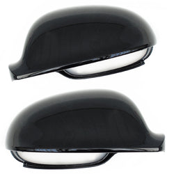 VW Golf mk5 Side Door Wing Mirror Covers Caps Black Left & Right