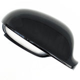 VW Golf mk5 Right Drivers Side Door Wing Mirror Cover Cap Casing Black