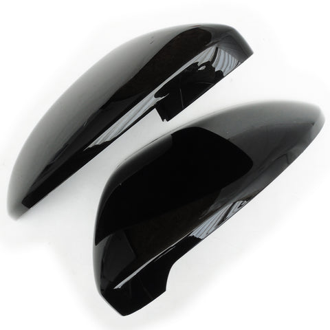 VW Golf mk7 Deep Black Wing Mirror Covers Caps Left Right Sides Pair