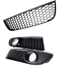 Underground Parts mk6 GTI Style Honeycomb Mesh Black /& Red Front Radiator Grille