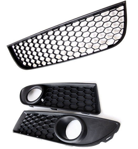 VW Polo 2005 - 2009 mk4 Facelift 9n3 GTI Honeycomb Mesh Front Grilles