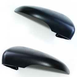 VW Golf mk6 Door Wing Mirror Covers Caps Casings Left & Right Sides pair Black plastic